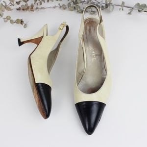 Vintage CHANEL Slingback Pointed Toe Heels